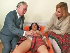Trio masturbandose, Por viejos, Madure vaginal, Follando a un viejo, Follando con viejas