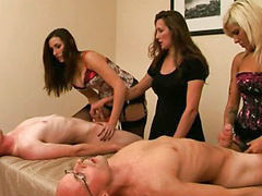 Tugging humiliation, Humiliation femdom, Humiliated group, Group femdom, Tugging, Tug