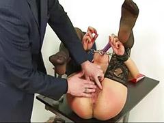 Hairy brunette, Bondage, Hairy vagina, Asian stockings, Asian toys, Hairy masturbation
