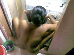 Indian, Clothed, Indian maid, Indian maids, Washing wash, Washed
