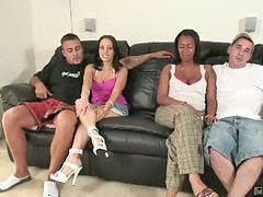 Interracial, Foursome, Ours, Foursomes, Interracial foursome, Foursomers