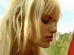 Anita blond, Anita blonde, Out sex, Out doors, Out door sex, Blond anita