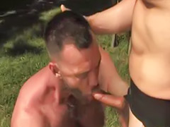 Gay rimming, Anal outdoor, Outdoor anal, Caged, Rimming cum, Outdoors anal