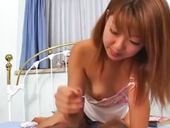 Asian, Masturbation, Japanese, Handjob, Asian handjob