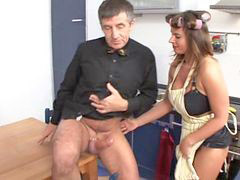 German, Boots, German fuck, In kitchen, ¨boots, Woman fuck