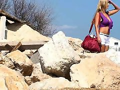 Voyeur blond, Hidden-camera, Hidden beach, Beach voyeure, Beach blonde, Beach big