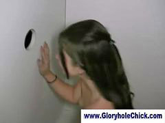 Gloryhole, Gloryhole hot, Hot brunettes, Hot brunette, Gloryhole cumshot, Brunette hot