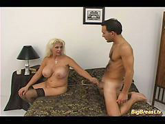 Milf boy, Big tits, Seduce, Boy, Pizza