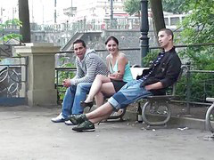 Street, Public, Public sex, Threesome sex, Public threesome, Public sex,