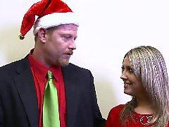 Pelirroja rubia, Cogiendo con nina, Entrenador, Entrenadores, Navidad