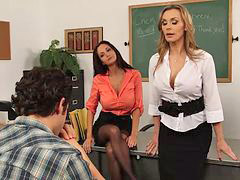 Teacher, Big tits, Three some, Teacher big tits, Teachers, Three