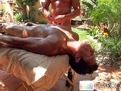 Massage outdoors, Outdoor massage, Bur, Massage