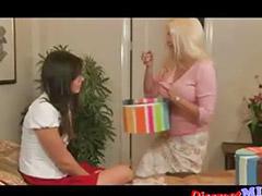 Mature lesbian, Lesbian teen, Teen lesbian, Teen brunette, Teen seduce milf, Skinny milf