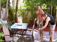 Dylan, Gay blowjobs, Anal outdoor, Outdoor anal, Pool sex, Pool anal