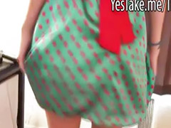 U dress, Polka dot, Her first, Hot gf, Hot dress, Dress hot