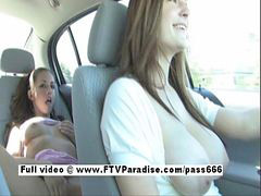 Public, Innocent, Car masturbation, In car, Tara, Masturbation in car