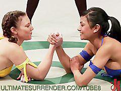 Lesbian, Wrestling, Lesbians, Teamed, Tagged, Wrestl