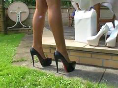 Heels, Outdoor, Heel fuck, Outdoore, Outdoor fuck, Outdoor -mountain