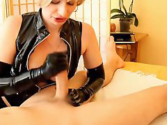 Short-hair, Short hairs, Short hair blond, Hair blond, Glove latex, Blonde latex