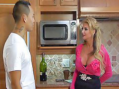 Riding, Busty, Kitchen, In kitchen, Kit, Bus blonde
