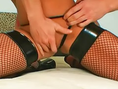 Stockings anal, Ashley, Stocking cum, Double penetration asian, Hard anal, Blow bang