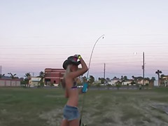 Fish, Fishing, Public girl, Nice girl, Fishings, Evens