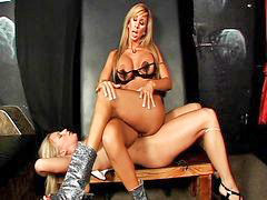 Milf, Slave, Blond milf, Dominant, Dominating, Blonde milf
