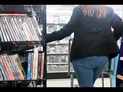 Jeans, Dvd, Candid ass, Jeans ass, Tight jeans, Withe jeans
