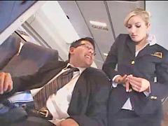 Public, Public masturbation, Stewardess
