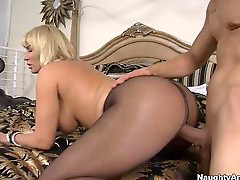 Pantyhose, Big tits, Blonde, Cougar, Tits, Big