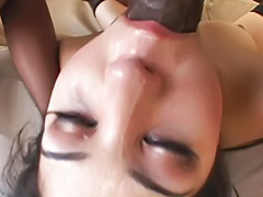 Deepthroat, Asian interracial, Black, Interracial, Big cock, Gangbang