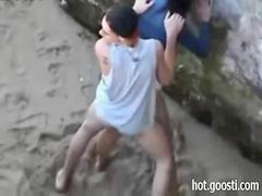 Public, Beach, Teen, Horny