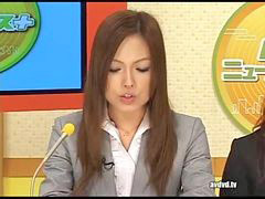 Japanese, Squiring, Newsreader, Japanese姉, Squirring, Squirred