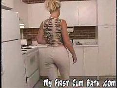 Bukkake, Bath, Suzie, Suzi, First bukkake, Suzy