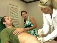 Doctor, Hot, Milf, Jerking