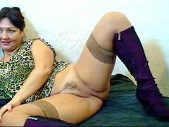 Mom, Russian, Hairy, Webcam