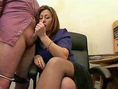 Secretary, Mature, Jerking