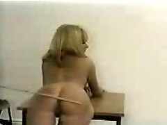 Caning, Caned, F-m caning, Gets bent, Blond caning, Bent over