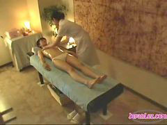 Massage, Girl, Asian, Kissing, Asian massage, Oil