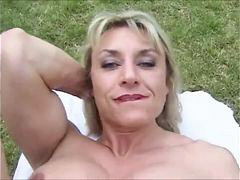 Muscle, Mature, Big clit, Outdoor, Clit