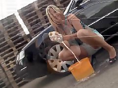 Washing wash, Wash car, Goldnerova, Blonde car, Blonde big boobs, Big carol