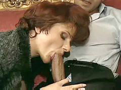 French, Heels, Cougar, Mature french, Sofa, French mature