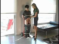 Bound, Guys humiliated, Guys bound, Mistress hot, Hots guy, Hot guy