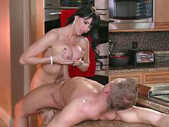 Mom fuck, Ass, Mom, Kitchen mom, Busty mom, Moms