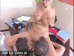Threesome, Office, Busty, Offic, Busty threesomes, Office threesome