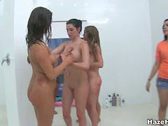 Amateur, Shower, Wrestling, Amateur college, Shower,, Teen