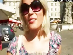 Czech girls, Czech pov, Paid sex, Czech girl, Public pov, Public blonde