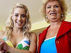 Granny lesbian, Teen lesbian, Granny, Bizarre