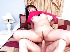 Bounce, Black on white, Cum on tits, On air, Bouncing tits, Anal big dick
