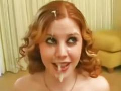 Curly, Redhead solo, Redhead facials, Redhead facial, Shot girl, Solo cum shots